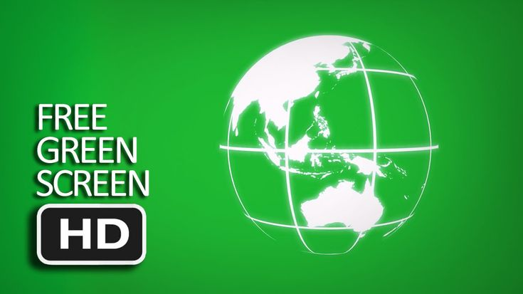 Free Green Screen - 3D Holographic Earth Rotation
