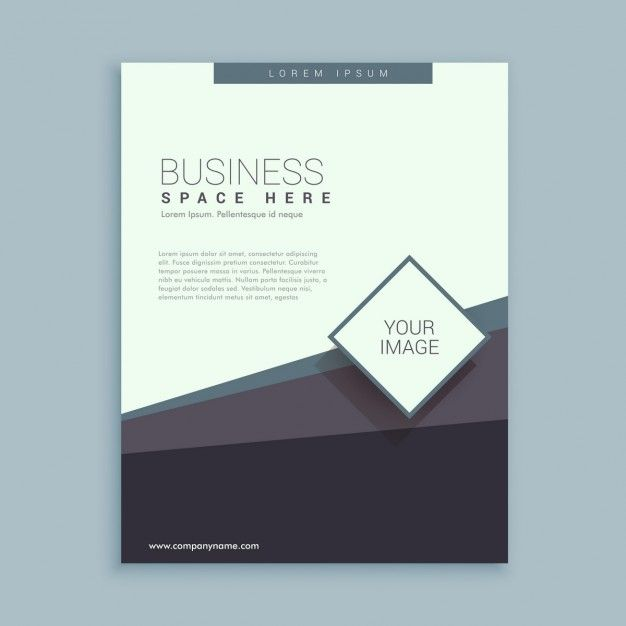 шаблон брошюры дизайн для бизнеса Бесплатные векторы
