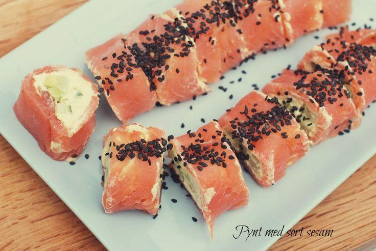 Frau Svensson: Lakserulle med wasabi