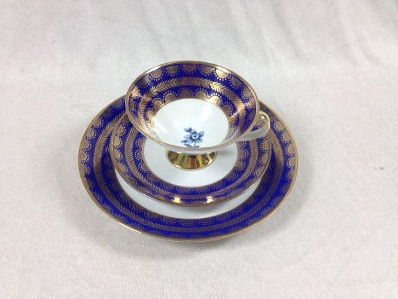 Hey, I found this really awesome Etsy listing at https://www.etsy.com/listing/264568165/bavaria-winterling-blue-and-gold-cup-and