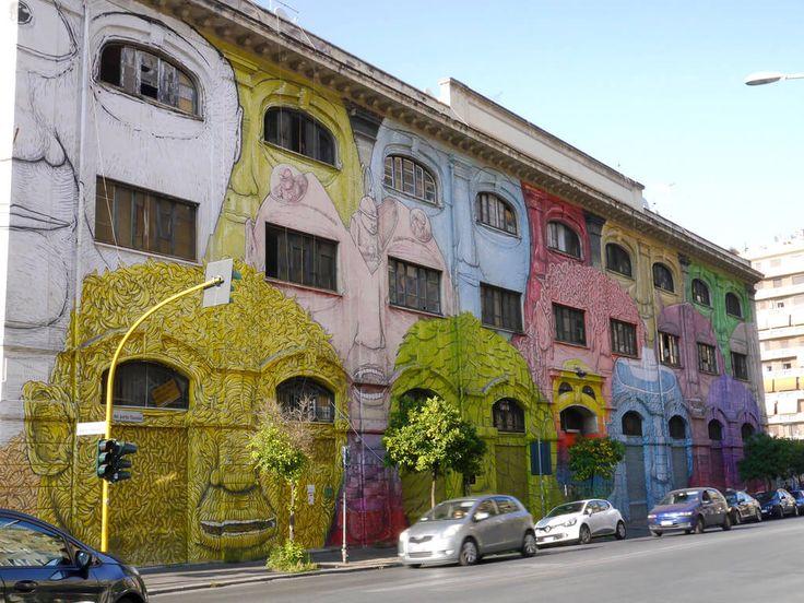 Street art in Ostiense by BLU - Unusual Things To Do in Rome