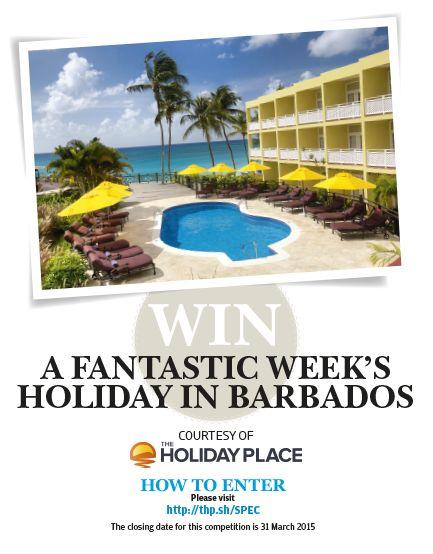Win a fabulous week in Barbados!