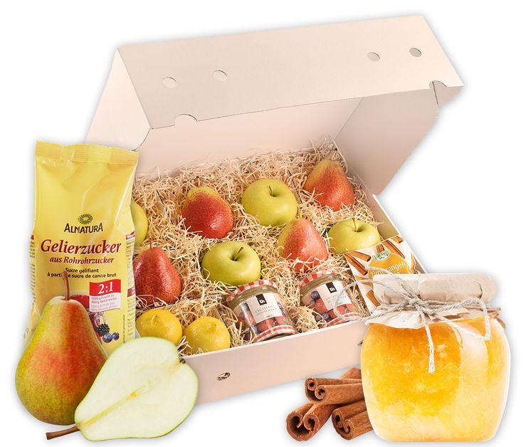 Uberraschen Sie Einen Lieben Menschen Mit Dieser Rezeptbox Fur Marmelade Die Frischen Zutaten Ergeben Eine Aromatische Birnen Apfel Apfel Marmelade Obst Birne