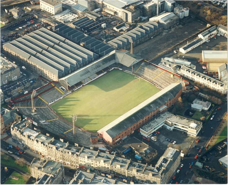 Tynecastle, Hearts in the 1970s.