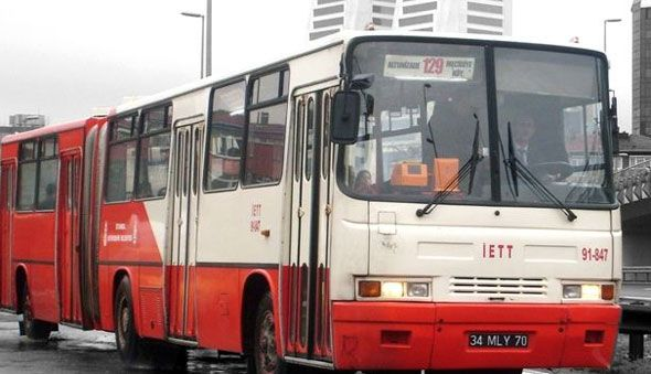 """famous public transport bus of istanbul """"ikarus"""""""