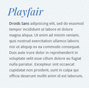 5 More Best Google Font Combinations 2013