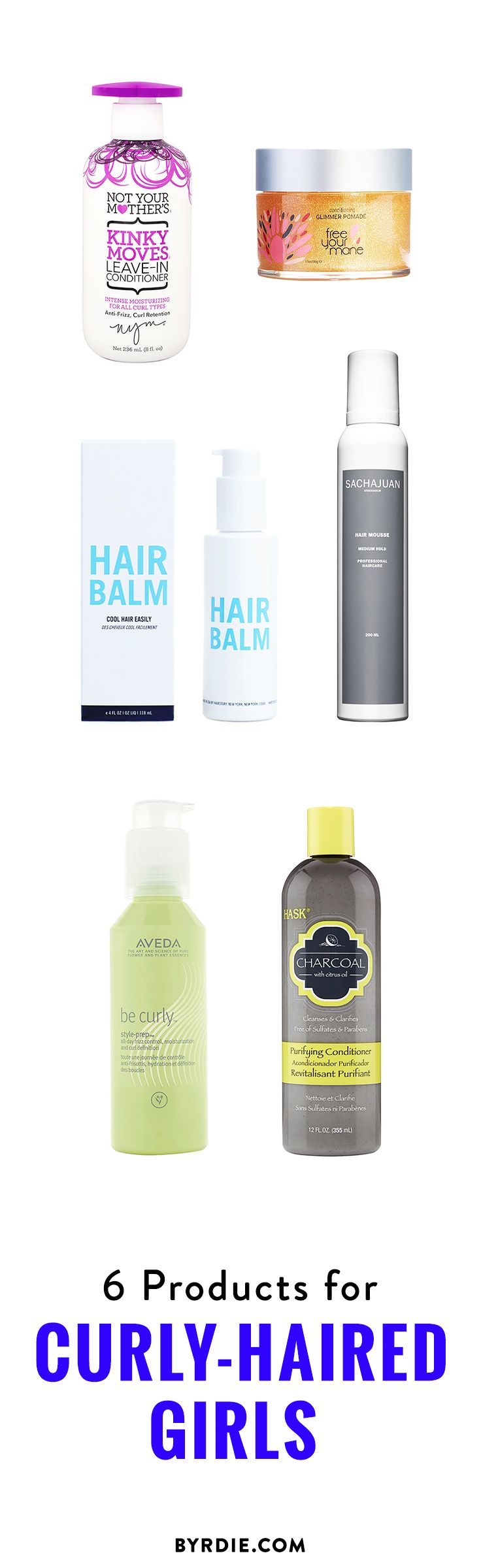 The best products for curly-haired girls