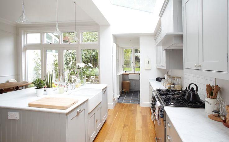 white, light kitchen