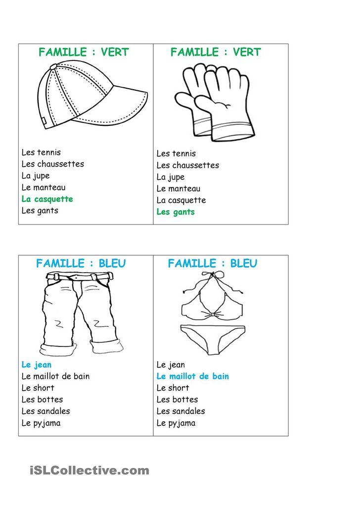 Jeu des 7 familles | GRATUIT FLE fiches pédagogiques