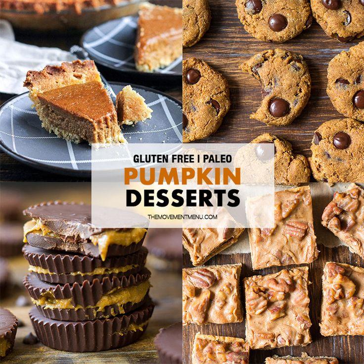 Paleo pumpkin desserts that are gluten free and paleo. Easy holiday treats for seasonal celebrations. Pumpkin recipes. Best Paleo pumpkin pies & muffins!