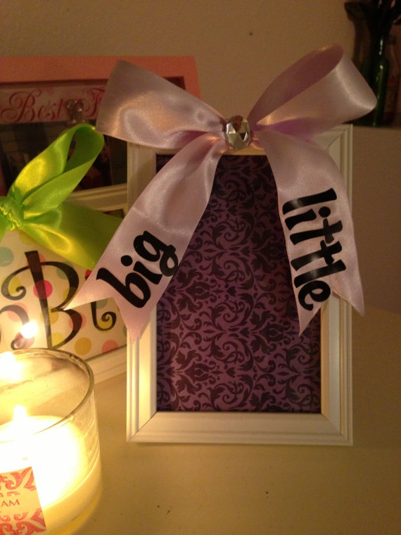 Sorority Big / Little sister Gift Picture Frame by InspiratioNotes