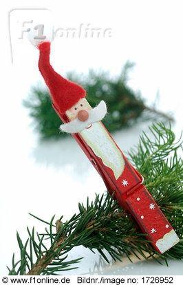 Weihnachtsmann-Wäscheklammer Mehr