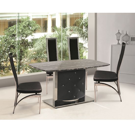 black dining chairs marble dining tables dining table ideas table sets