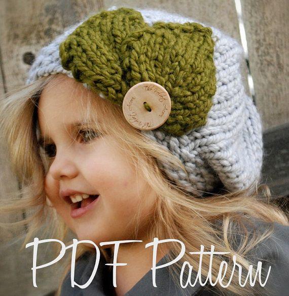 Knitting PATTERNThe Olivia Beret Toddler Child by Thevelvetacorn, $5.50