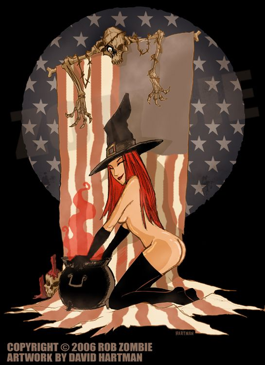 this is another american witch picture for rob zombie this one was used on the cover of the dvd package for the music video american witch 2 by hartman - Rob Zombie Halloween Music