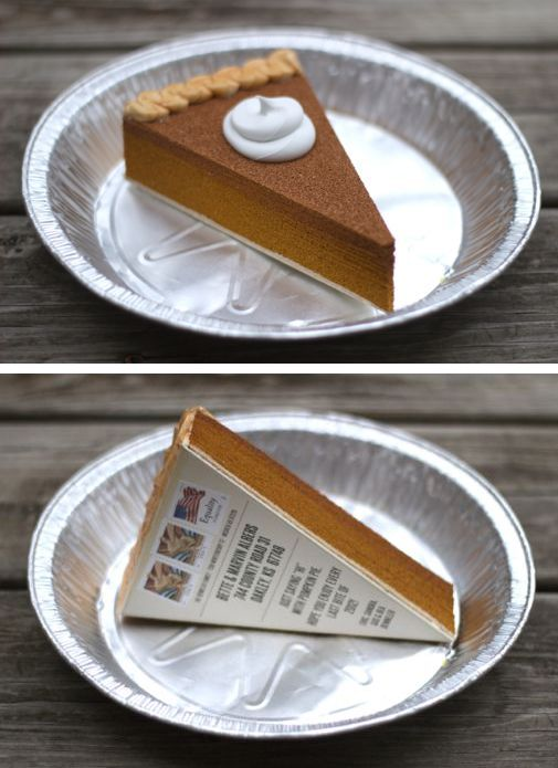"""""""I mailed 85 slices of fake pumpkin pie. That was fun."""" GREAT SITE: lots of fun ideas for fun things to mail and so much more!!!!  :)"""