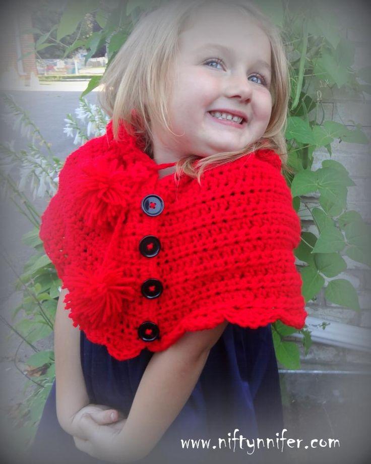 7 besten Crochet kids ponchos Bilder auf Pinterest | Kleidung häkeln ...