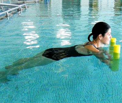 924 best images about working out in the pool on pinterest - Swimming pool exercises to lose weight ...