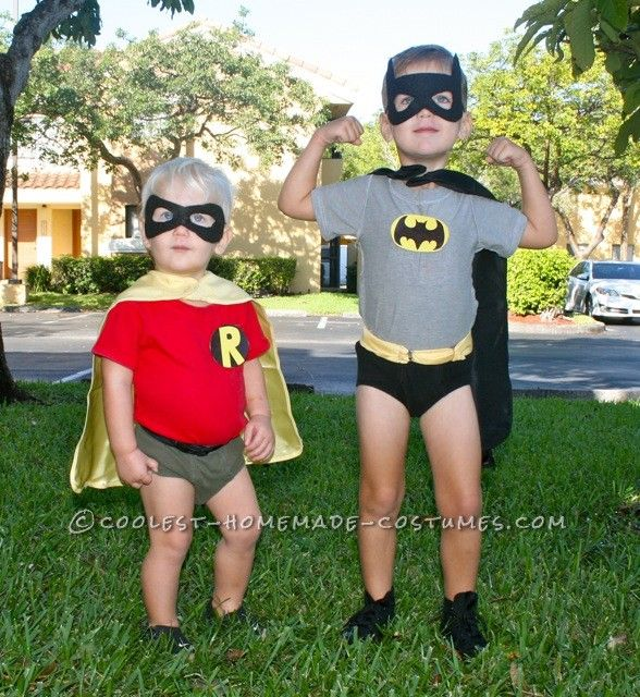 Coolest Little Boy Batman and Robin Couple Costume : toddler batman and robin costumes  - Germanpascual.Com