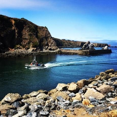 The jetty jaws on the Noyo River, Noyo Harbor, Fort Bragg, CA | via Facebook | We Heart It