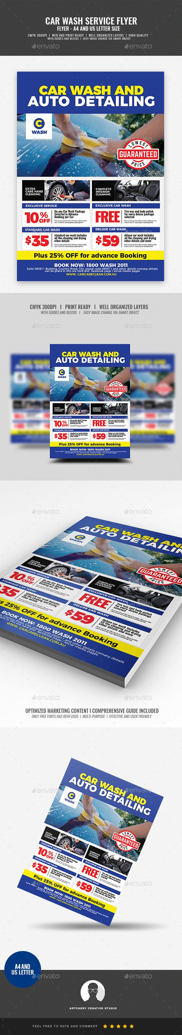 Car Wash and Auto Detailing Flyer - Corporate Flyers