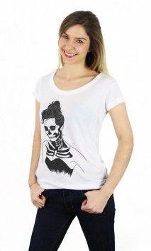 T-Shirts Blancs pour Femmes - T-Shirts imprimés et à la mode pour femme - Art Shop - Wooop.fr - Wooop