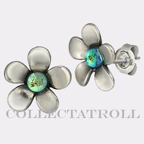 Authentic Troll beads Silver Flower Earrings Trollbeads- Love these!