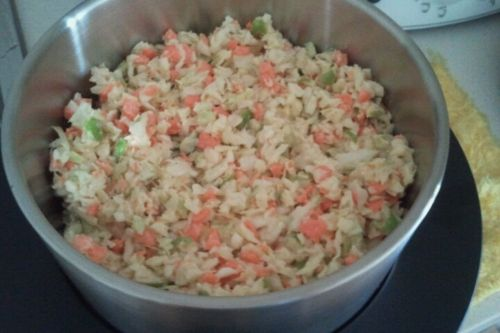 Recipe from the Everyday Cooking for Every Family TMX cookbook) Ingredients 200g cabbage, roughly cut 100g carrots, roughly cut 1 green apple (quartered, no need to peel or deseed) 1/4-1/2 small on...