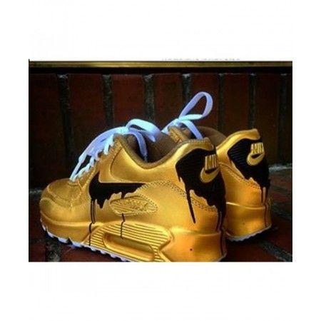 newest 5dd25 a33fd ... Trainer  Acheter Chaussure Nike Air Max 90 Candy Drip Noir Doré En Ligne  . ...