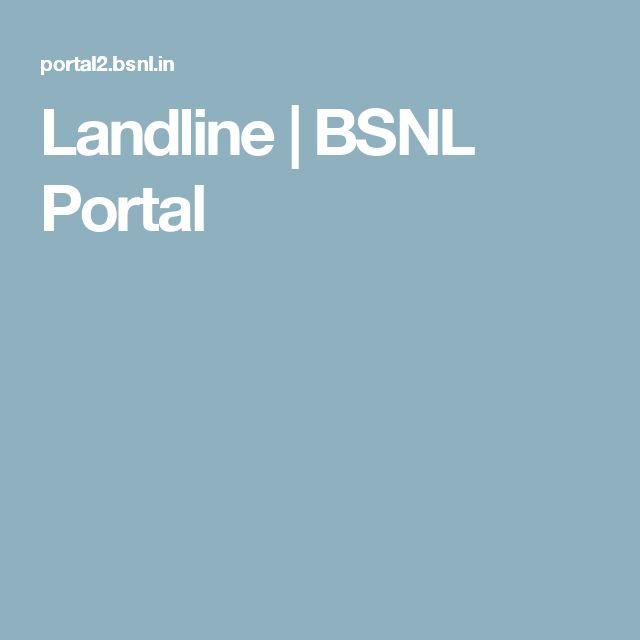 Landline | BSNL Portal
