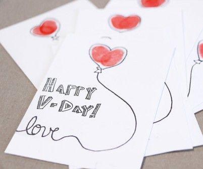 Valentines Day card, Handmade Greeting card, Love