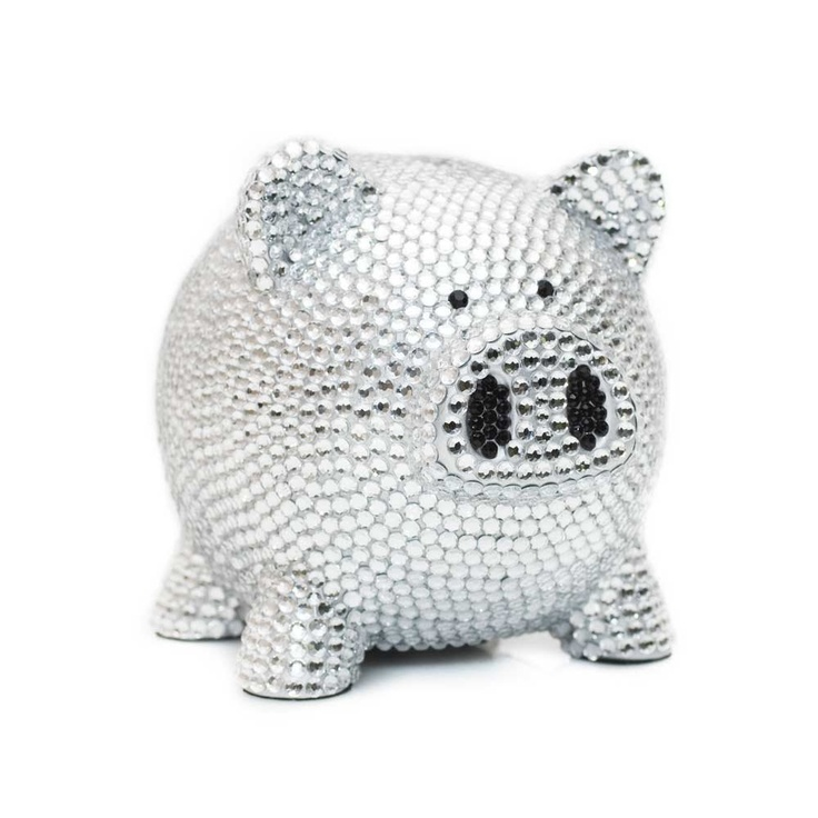 102 best images about piggy banks on pinterest ceramics san francisco giants and union jack - Rhinestone piggy bank ...