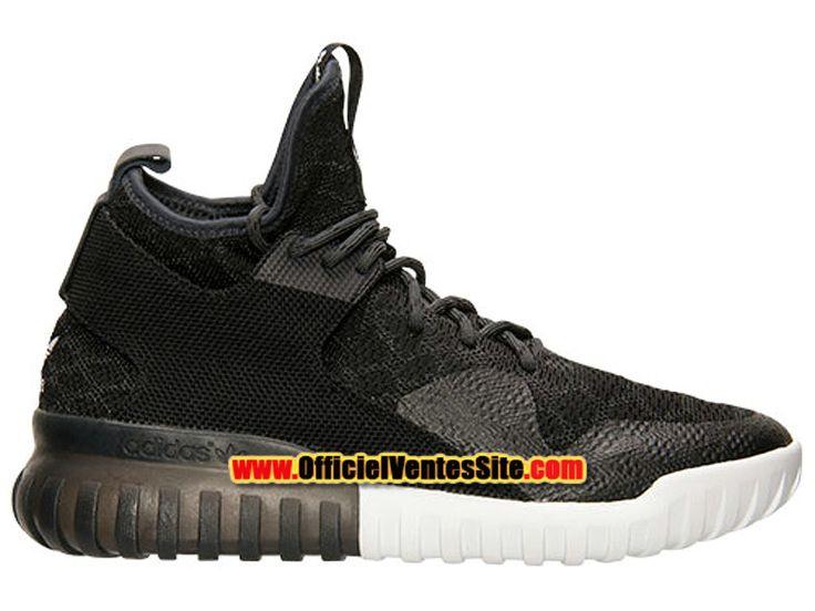 Adidas Tubular X PrimeKnit Casual Chaussures Adidas Pas Cher Pour Homme Noir/Blanc  B25591 BLK
