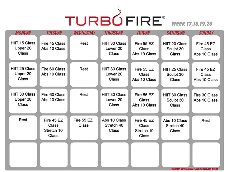 Best Turbo Fire Workout Images On   Workout Schedule