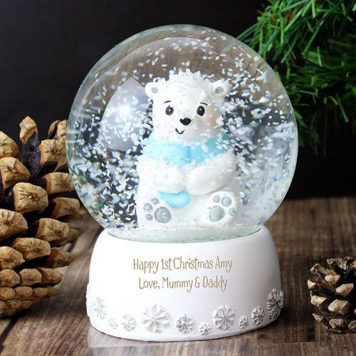 Personalised-Polar-Bear-Snow-Globe-SnowGlobe-Christmas-Xmas-Gift-Idea-P011304