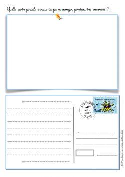 Carte postale de rentrée - Ecrire et dessiner