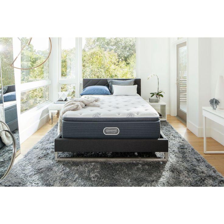 beautyrest silver maddyn 14inch twinsize luxury firm pillowtop mattress set