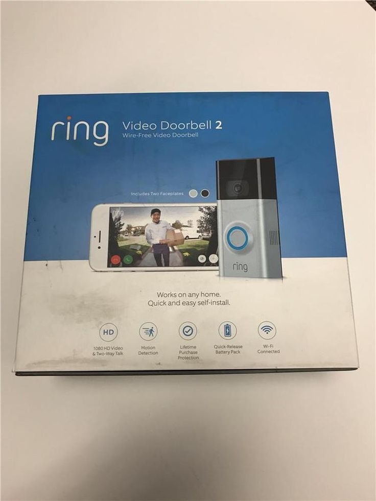 New Ring Video Doorbell 2 Security Wireless Night Vision Camera System 3pc  Lot  Duraseal Stain Colors 400905  home security self install best ...
