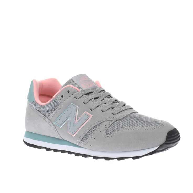 NEW BALANCE 373 UK 5 EU 38 PINK PEACH SILVER SUEDE TRAINERS CHILDRENS LADIES