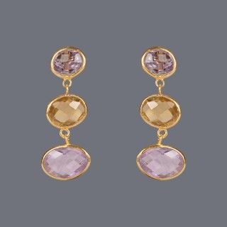 Featuring this Citrine Amethyst Eaaring by Designer Deepa Sethi on Zarilane.com. Go, Grab yourself one Now!