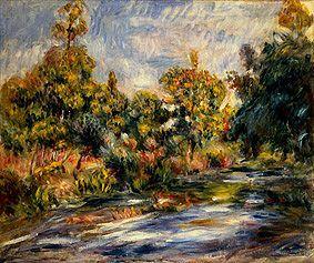 Bild:  Pierre-Auguste Renoir - Landschaft mit Fluss.