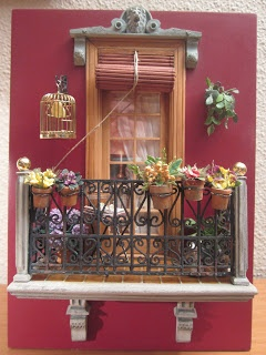 Balcón en miniatura - LOLYALIMINIS: concurso de balcones , ganéFairies Doors, De Balcon, Beautiful Balconies, Doors Windows, Dollhouse Balconies, Balcón En, Contest, Dollhouse Miniatures, Crafts