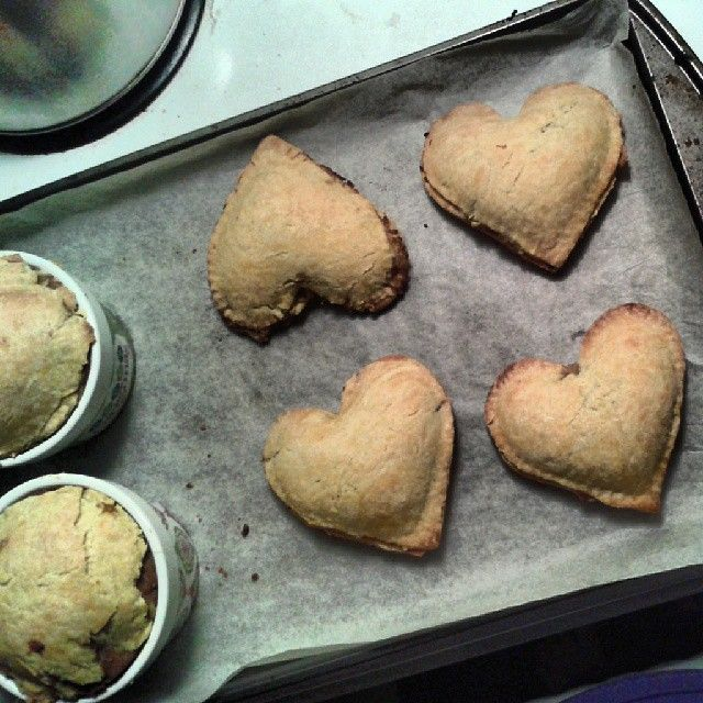 Vegan Chickpea and mushroom hand pies like a meat tourtiere in French but completely vegan, recipe from Riccardo except I put a heaping tsp of turmeric in my flour to add a nice yellow tint to my crust.