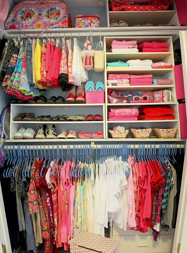 Handy tips and tricks for organizing a closet.