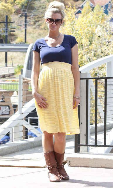 Sew a stylish maternity skirt. | 31 DIY Projects That Will Make Pregnancy So Much Easier