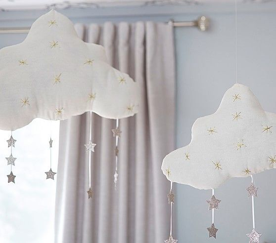 Hanging Clouds with Stars | Pottery Barn Kids