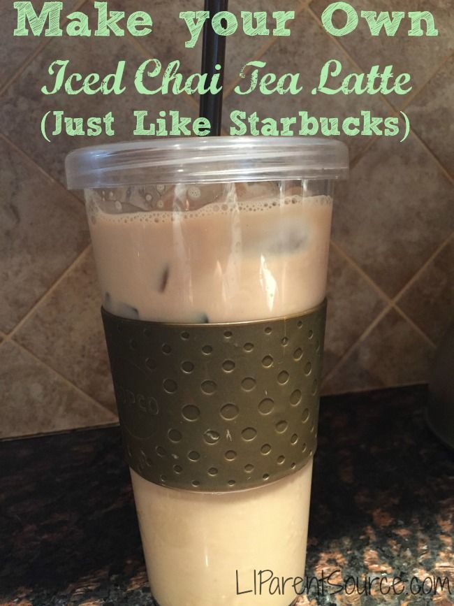 My summer drink of choice is an iced chai latter from Starbucks - this version will save me some money!