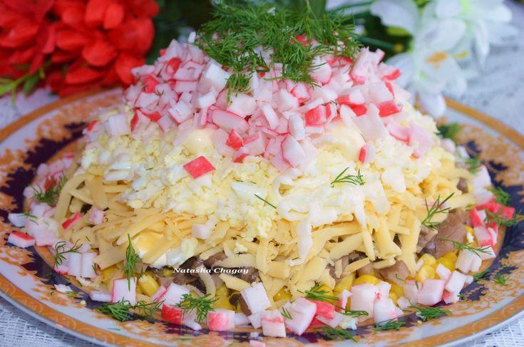 Салат с крабовыми палочками палочками и помидорами