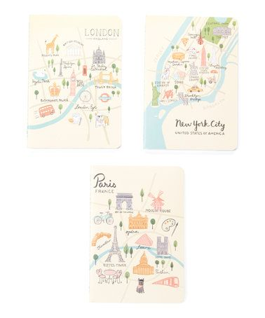 Love this City Maps Notebook - Set of Three on #zulily! #zulilyfinds