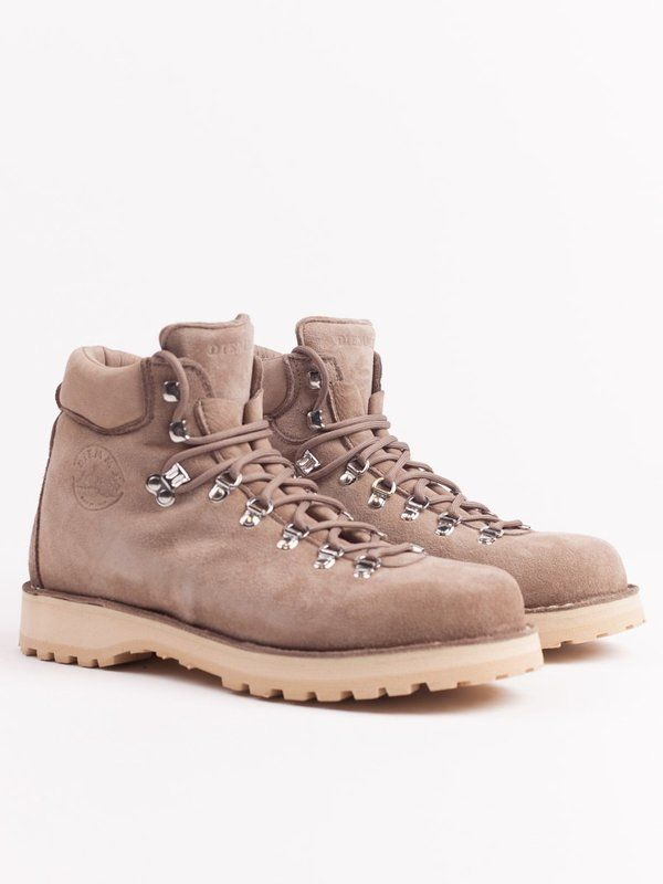 826a8734 The Roccia Vet Deer by Diemme is modelled after a classic trekking boot and  features a soft deer skin suede upper with D-ring lacing system, latex  cushioned ...
